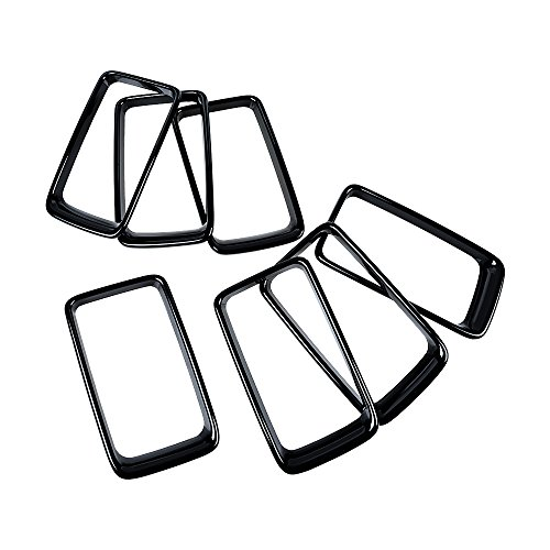 Jual Astra Depot 7pcs Glossy Black Front Grille Insert Cover Trim