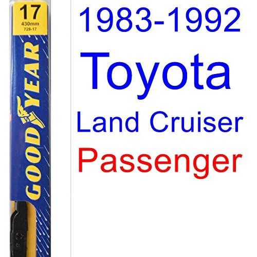 1983-1992 Toyota Land Cruiser Wiper Blade (Passenger) (Goodyear Wiper Blades-Premium) (1984,1985,1986,1987,1988,1989,1990,1991) free shipping