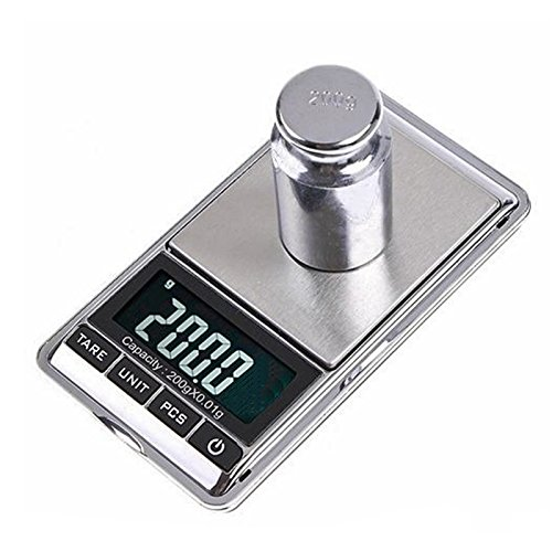 LUPO Pocket Scales - 0.1g to 1000g 1kg Maximum Accurate Mini Electronic Digital Jewellery Gold Postal Weighing Scales
