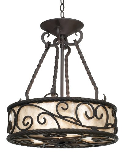 """Price comparison product image Natural Mica Collection 17"""" Wide Pendant Chandelier"""