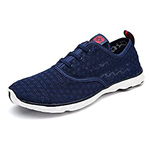 Dreamcity Men's water shoes athletic sport Lightweight walking shoes, Color: Blue, size 11