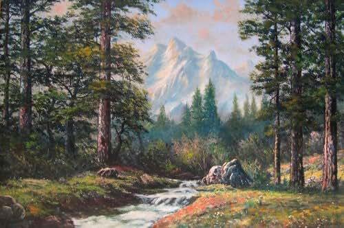 Amazon Com Mountain Scene W R Thrasher Fine Art