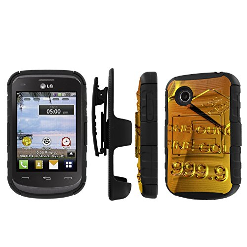 Click to buy NakedShield LG 306G 305C (Gold) Combat Tough Holster KickStand Armor Phone Case - From only $15.95