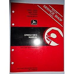 John Deere 1800 2300 3200 Portable Generator Operators Owners Manual OMTY20764D5