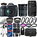 Canon EOS 6D 20.2 MP CMOS Digital SLR Camera with EF 24-105mm IS STM Kit Wi-Fi Enabled Lens + EF 75-300mm f/4-5.6 III with 48GB in SDHC Memory Bundle (20 Items) - International Version (No Warranty)