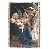 Song of Angels Virgin Mary & Child Jesus Prayer Throw Blanket Tapestry Tapiz