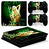 MODFREAKZ™ Console and Controller Vinyl Skin Set - Smoking Weed Girl for PS4 Pro