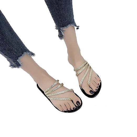 58ed6b22f698d Amazon.com: Amlaiworld Women Beach Slippers Flat Bottom Sandals ...
