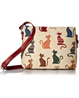 Signare Womens Tapestry Fashion Shoulder Handbag Across Body Messenger Bag in Cheeky Cat Design