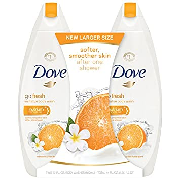 Dove go fresh Body Wash, Mandarin and Tiare Flower 22 oz, Twin Pack