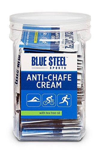 Blue Steel Sports ANTI-CHAFE CREAM Jar of 50 Singles by Blue Steel Sports