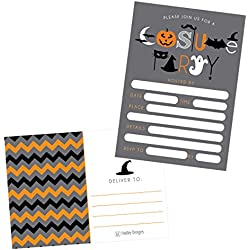 50 Halloween Costume Party Invitations, Kids Or Adults Birthday Halloween Party Invites, Monster Trunk Or Treat Or Trick Or Treat Party Invitation, Pumpkin Invite