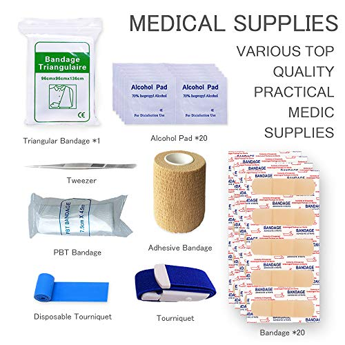 TOUROAM Trauma Medical First Aid Kit -Tactical Emergency Israeli Bandage-Survival Military Combat Tourniquet-Small IFAK… 3