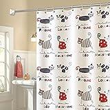 Rff Nordic Bathroom Cartoon Partition Shower Curtain Waterproof Thickening Mildew Polyester Shower Curtain Curtain (Size : 240 * 240cm)