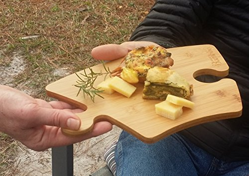 Hot Sale Price - PLUS Buy 4, and 1 is FREE! Bamboo Appetizer Plate or Cutting Board - Curved Puzzle Piece Holds Hors d'Oeuvres and Wine Glass for a Touch of Whimsey!
