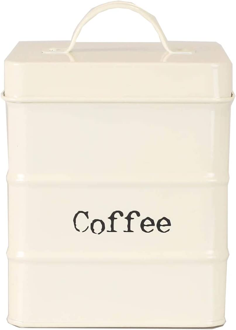 Home Basics Tin Kitchen Food Storage Organization Canister Collection (COFFFEE)