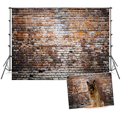 7x5ft Old Brick Decoration Backdrops Child Photo Background for Studio Photography Backdrop]()