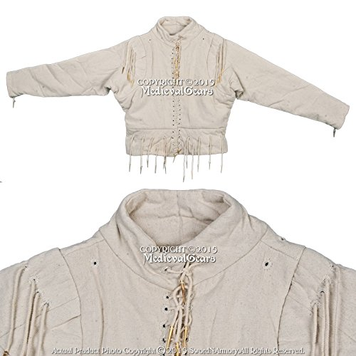 Sca Medieval Costumes (Medieval Gears Brand 15th Century Ecru XXL Arming Doublet Jacket Medieval Costume SCA WMA Reenactment)