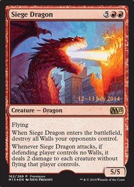 Magic: the Gathering - Siege Dragon (162/269) - Prerelease & Release Promos - Foil