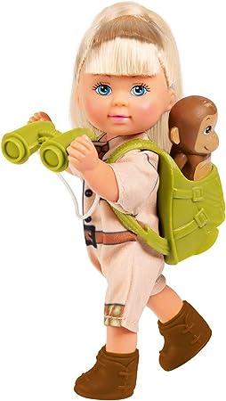 Simba Love Monkeys - Muñeca de expedición con Mochila, prismáticos, Forro y Dos Monos