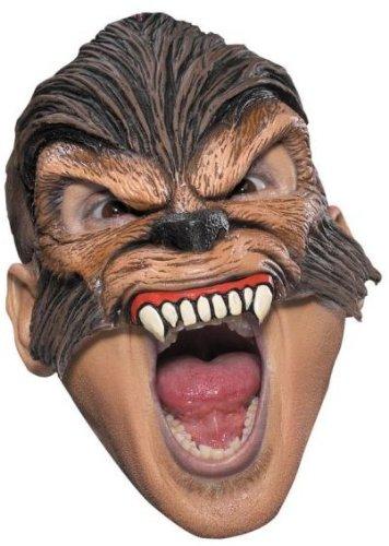 Chinless Dark Skull Adult Vinyl Mask - Disguise Costumes Wolfman Vinyl Chinless Mask,