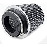 Universal Clamp-On Engine Air Filter: Round Tapered; 3 in/3.5 in/4 in (101 mm/90 mm/76 mm) Flange ID; 6.3 in (160 mm) Height; 5.9 in (150 mm) Base; 4.75 in (121 mm) Top