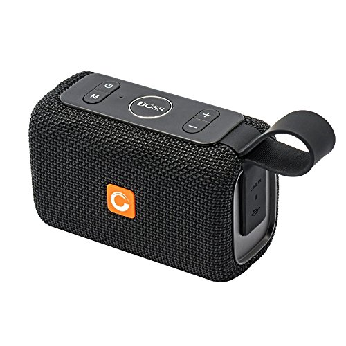 Ego Speaker - DOSS E-go Portable Bluetooth Speaker with Loud Volume, Increased Bass, IPX6 WaterProof, Built-in Mic. Perfect Wireless Speaker for iPhone, Samsung and more