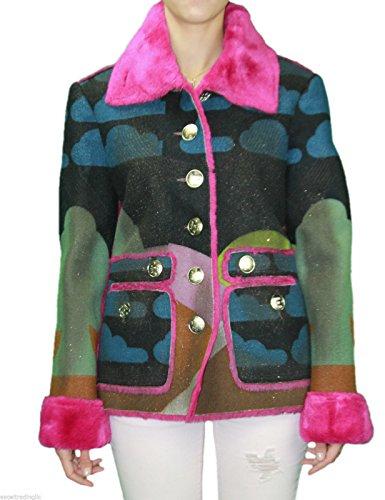 Custo Barcelona Women's Bu Oz Faux Fur Graphic Coat 2 - Graphic Barcelona