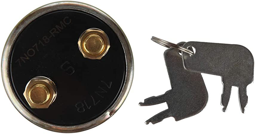 Dump Trucks and Other Heavy Equipment HMY 7N0718 7H7290 Caterpillar Battery Disconnect Master Power Starter Switch with 2 Position 2 Terminal 2 Keys for Excavators