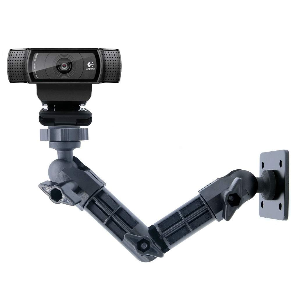 Webcam Wall Mount, Logitech C920 Stand for Logitech C922x C920 C930e C922 C930 C615, Brio 4K,C925e - Acetaken