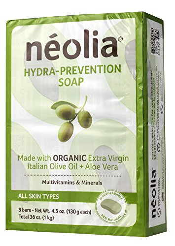 (Neolia Hydra-prevention Olive oil Moisturizing Bar Soap (8 x 130g) – 100% Natural Ingredients, Highly Moisturizing & Extra Virgin Olive Oil Soap Bars – Relieves Common Skin)