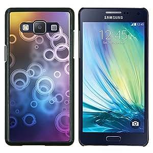Qstar Arte & diseño plástico duro Fundas Cover Cubre Hard Case Cover para Samsung Galaxy A5 A5000 (Patrón de timbre)