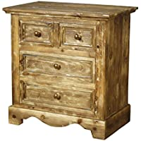 New Pacific Direct Tuscany Night Stand with 4 Drawers,Fully Assembled