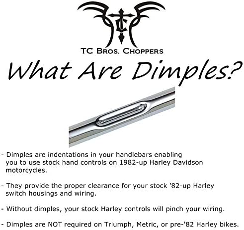 "TC BROS 1/"" Tracker Handlebars Black Dimpled 101-0144"