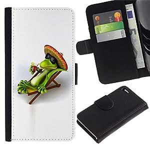 All Phone Most Case / Oferta Especial Cáscara Funda de cuero Monedero Cubierta de proteccion Caso / Wallet Case for Apple Iphone 4 / 4S // Lizard