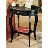 Butler Oval Accent Table, Brushed Sable Finish