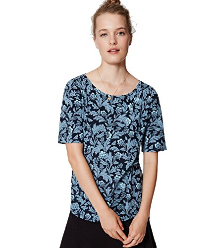ann-taylor-loft-womens-blue-iced-floral-print-100-cotton-ballet-neck-tee-medium