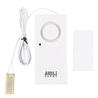 Akozon Detector de fugas de agua, sensor de nivel de agua alarma 120 DB,