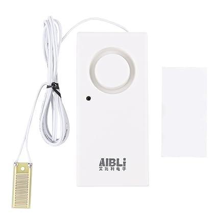 120dB Sensor de Fugas de Agua Detector de Agua de Alta Sensibilidad Alarma de Desbordamiento de
