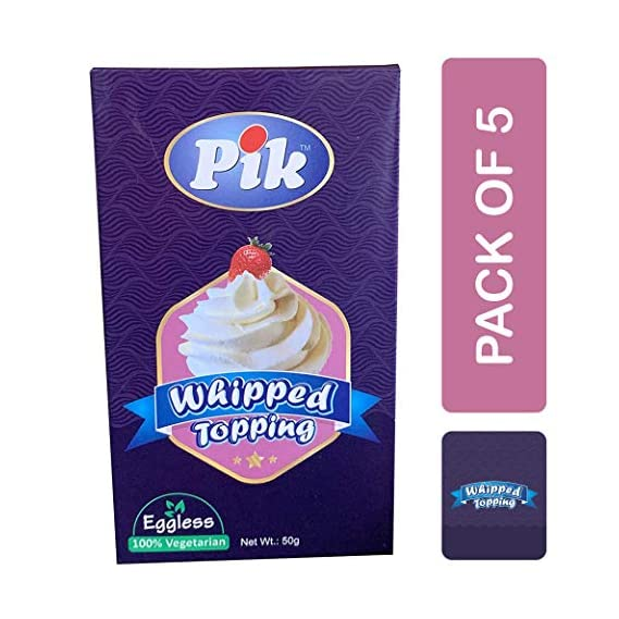 Pik Whipped Topping, 50g (Pack of 5)