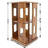 Desk Organiser Bookshelf, Revolving Bookcase, Modern Simple Design Shelf 2 Tier Storage Rack