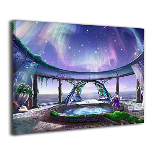 - Henry Huxley Wall Art Decor Painting On Canvas Print, Aurora Fancy Stretched and Frameless,for Kitchen Living Room Bedroom Decoration Home Office Wall Posters 16x20 Inch