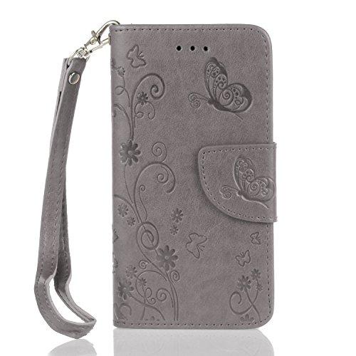 Für Apple iPhone 7 (4.7 Zoll) Tasche ZeWoo® PU Ledertasche Hülle Leder Schutzhülle Case Cover - HX003 / grau