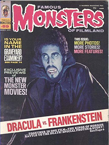 Famous Monsters of Filmland #89 March 1972 (Zander Vorkov on Cover from Dracula Vs. Frankenstein)