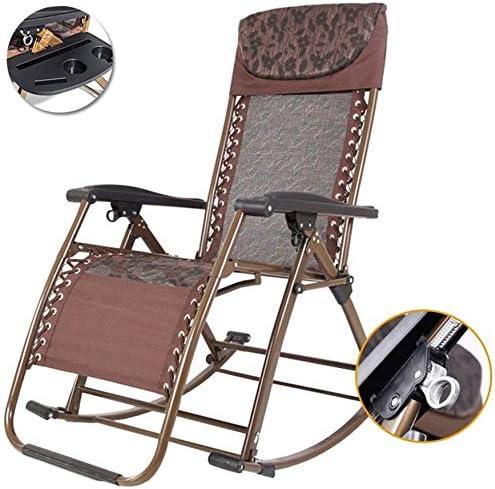 Tumbonas Sillón Mecedora Plegable, sillón reclinable Relax, sillones de césped, sillón de Gravedad para salón al Aire Libre con reposapiés, Tumbona reclinable para jardín, Patio, Playa: Amazon.es: Hogar