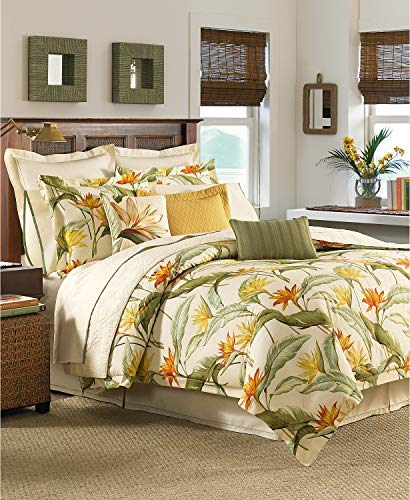 Tommy Bahama Home Birds of Paradise 4 Piece Queen Comforter Set Coconut (Bedding Tropical Sets Queen)