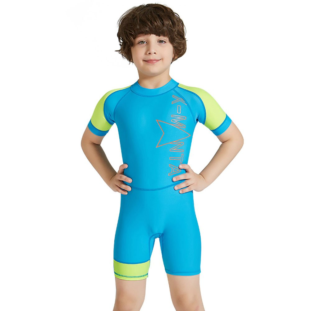 7a113f497d Amazon.com: Kids Boys Girls One Piece Long Sleeves Swimsuit, Rash Guards UV  Sun Protection Swim Set, Sunsuit Divring Suit: Clothing