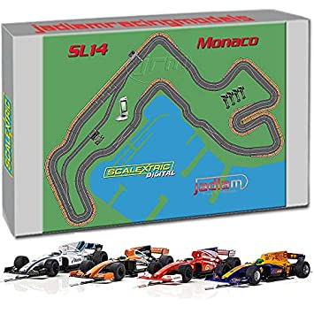 Scalextric Digital Set Sl14 Monaco Jadlamracing Layout With 4 Cars