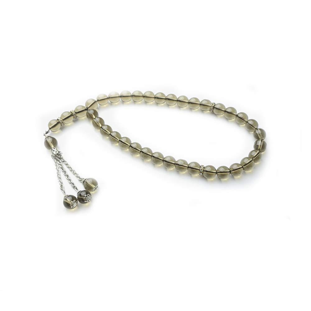 Hongma 3 in 1 Gebetskette Halskette Armband Wei/ß Schwarz Grau f/ür Moslem Islam MEHRWEG