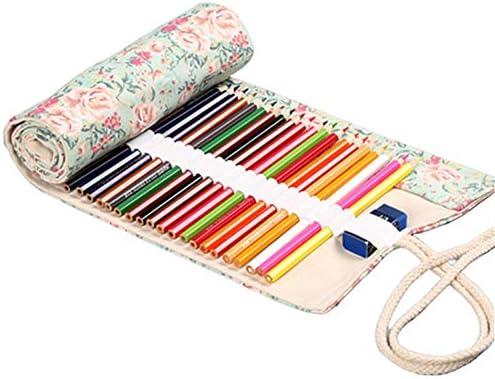 ZUOLUO Estuche Grande Estuche lapices Lápiz lápiz Abrigo Estuche para lápices Enrollable Lápiz Casos Chicas Bolsa de lápiz 12: Amazon.es: Hogar